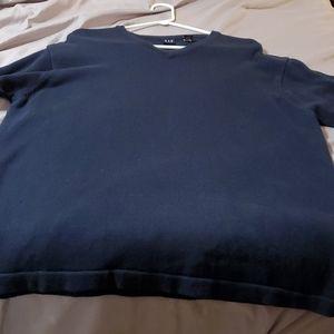 XL Navy Gap men's v,neck sweater, long sleeve